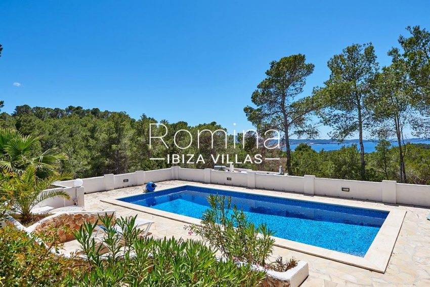 villa itsas ibiza-1pool terrace sea view