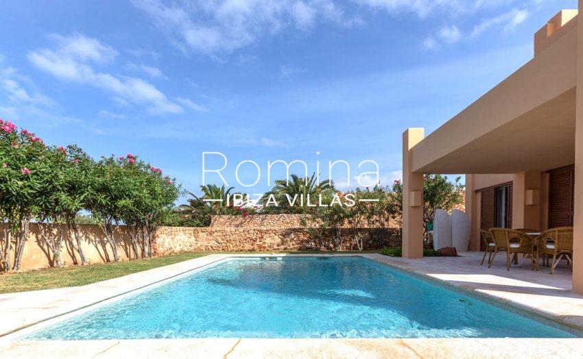 villa umber ibiza-2pool porch garden
