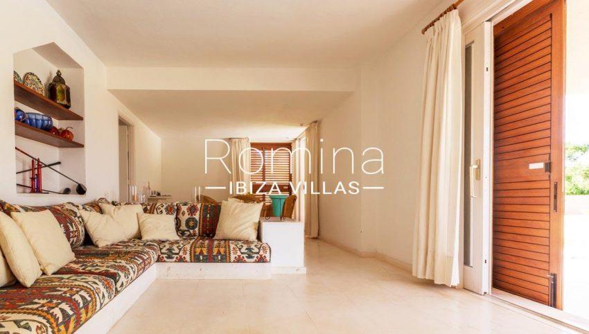 villa umber ibiza-3living room banquettes
