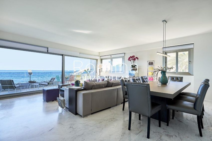 apto playa mar ibiza-3living dining room sea view