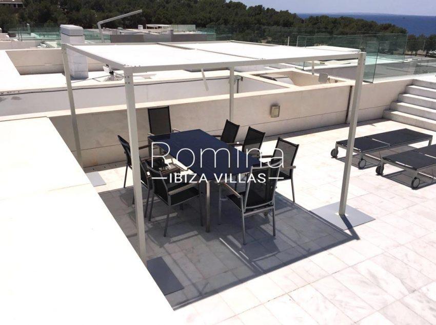 atico es pouet s ibiza-2sun roof terrace dining area
