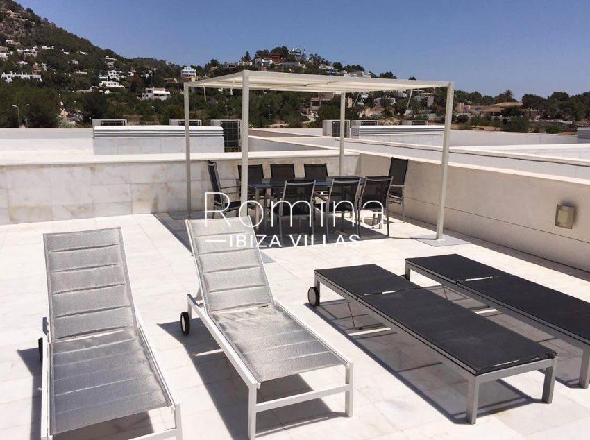 atico es pouet s ibiza-2sun roof terrace lounge dining area