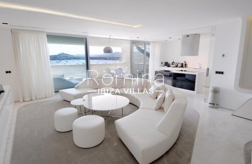 atico es pouet s ibiza-3living room kitchen