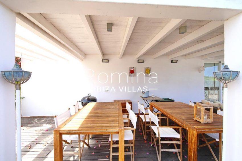casa tomeo ibiza-2terrace dining area