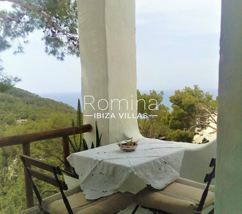 studio mar ibiza-.1terrace dining area sea view