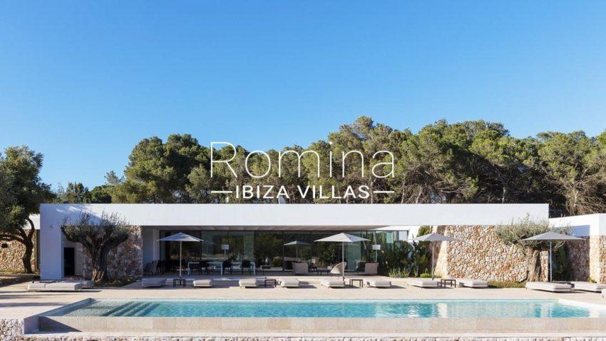 villa calma ibiza-2pool terrace facade