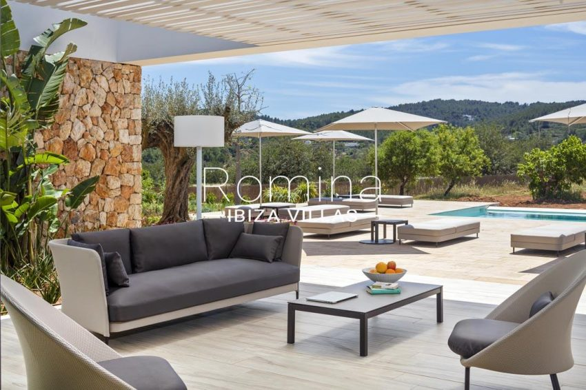 villa calma ibiza-2terrace sofas pool terrace