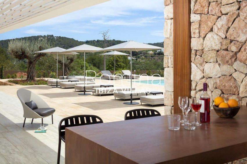 villa calma ibiza-2terrrace dining area