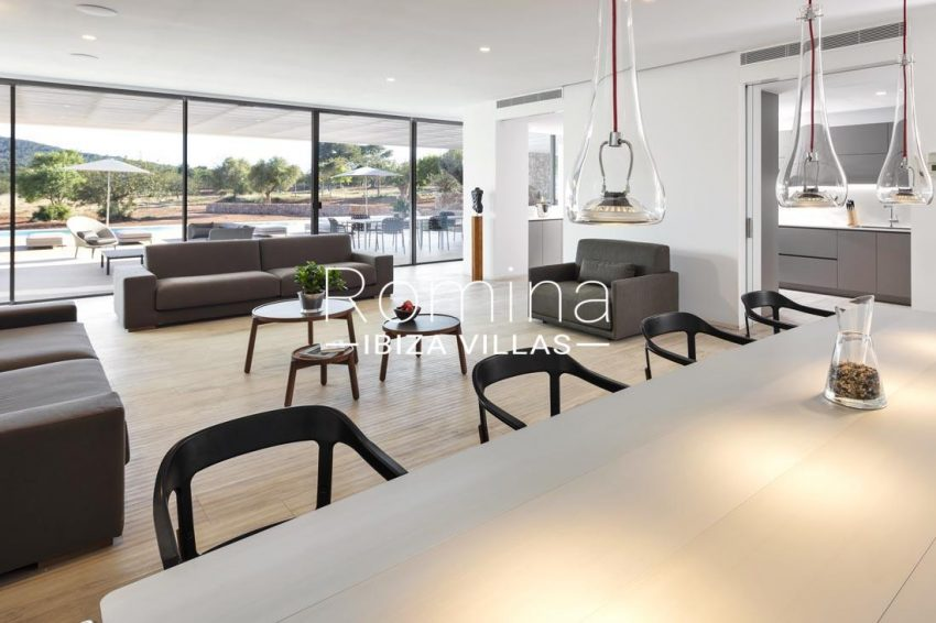 villa calma ibiza-3liivng dining room