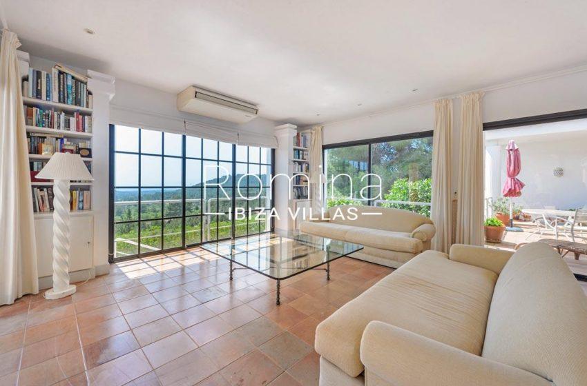 villa micha ibiza-3living room view