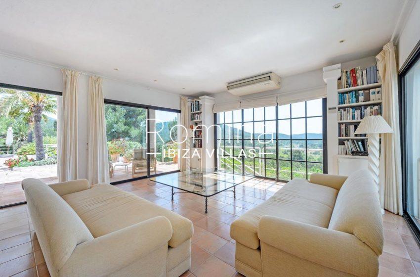 villa micha ibiza-3living roomview garden hill