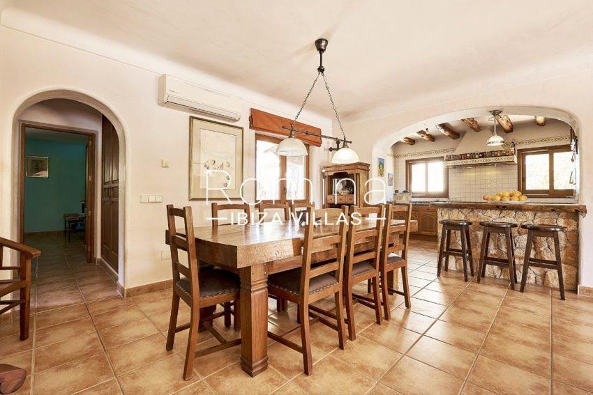 villa samani ibiza-3dining room kitchen
