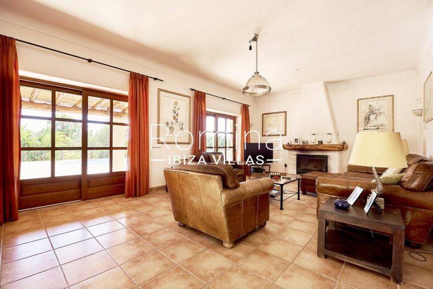 villa samani ibiza-3living room fireplace