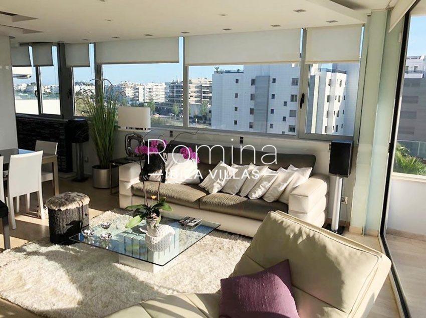 loft ibiza-3living room view