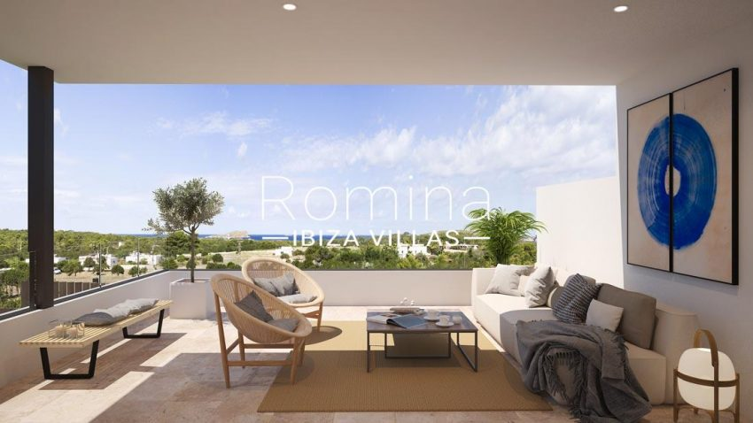 proyecto villas costa-1terrace living room sea view