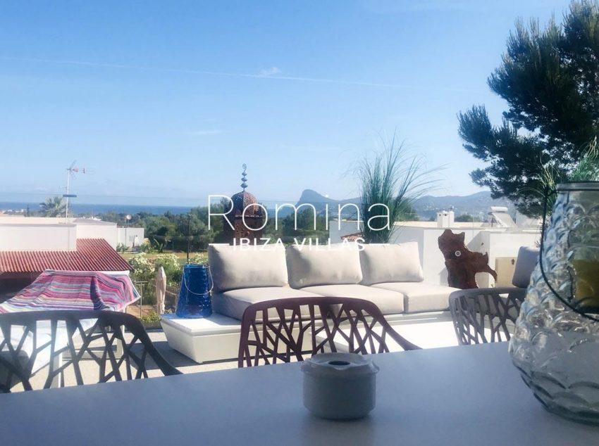 villa blanca ibiza-1terrace dining area sea view