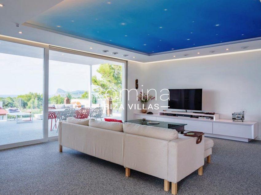 villa blanca ibiza-3living room view cap nono