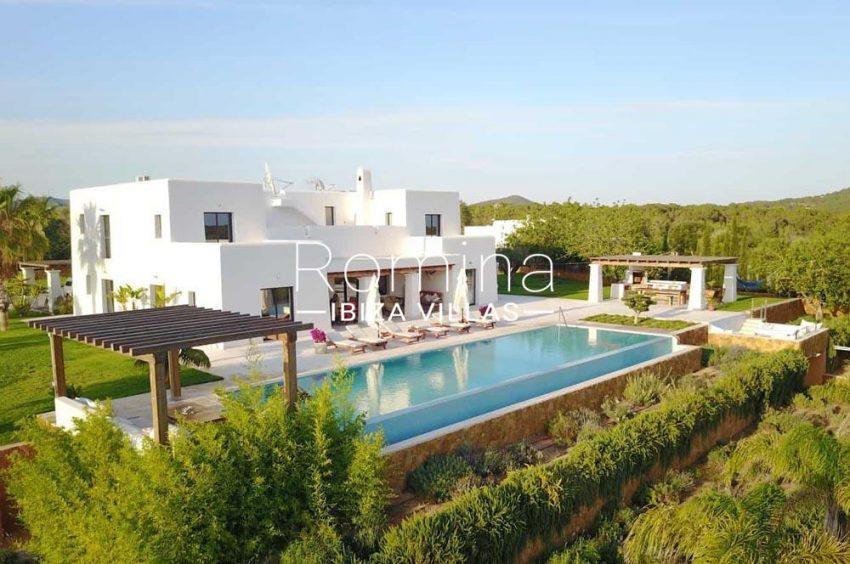 villa hegan ibiza s-2pool facade gardens