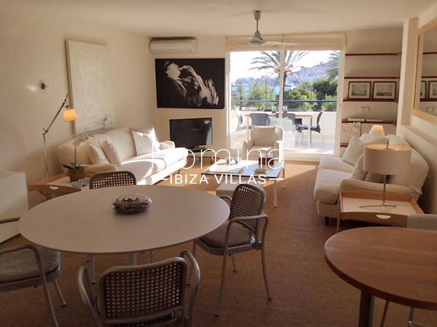 apartamento itsas-3living dining room sea view