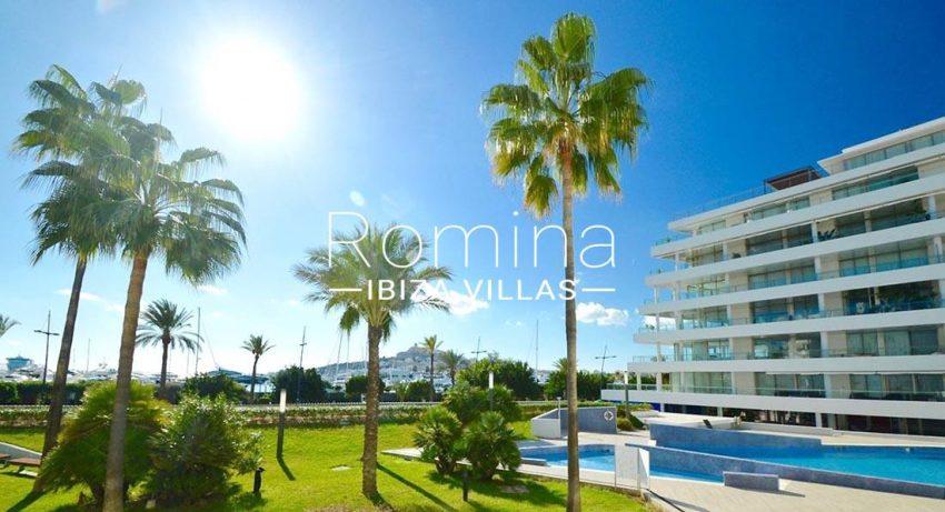 apto miramar 3 ibiza-1pool facade view dalt villa