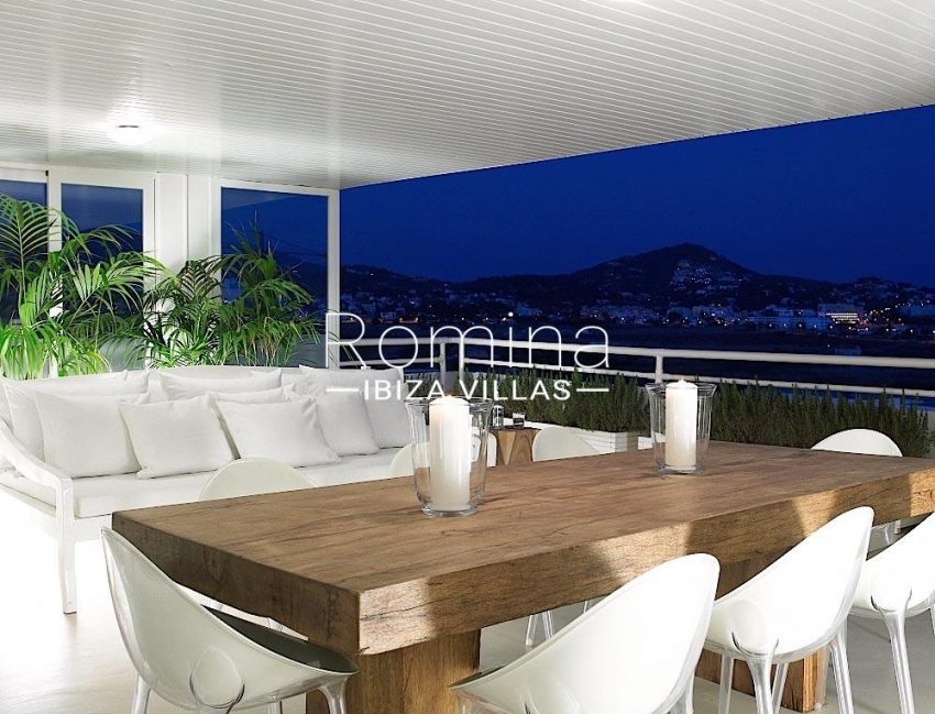 atico dins ibiza-1terrace evening sea view2