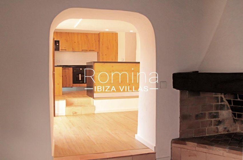 casa vila ibiza-3living room kitchen