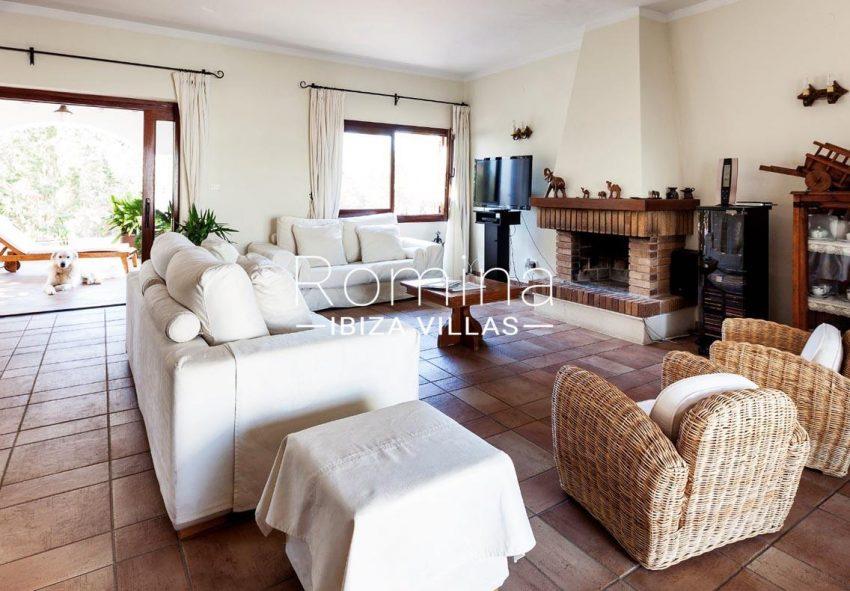 casa zura ibiza-3living dining room fireplace2