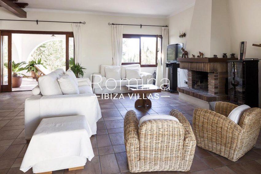 casa zura ibiza-3living diningroom fireplace