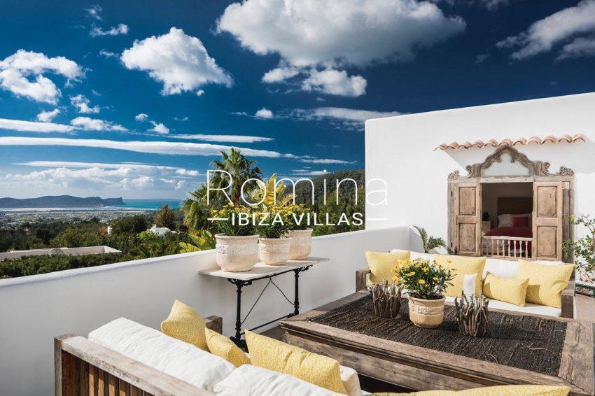villa everland ibiza-1bedroom terrace sea view
