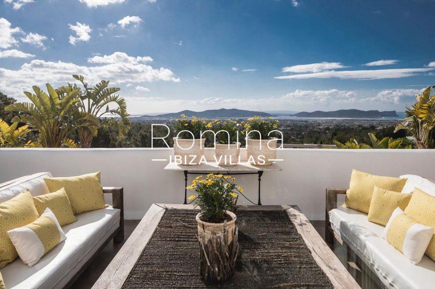 villa everland ibiza-1bedroom terrace. sea view