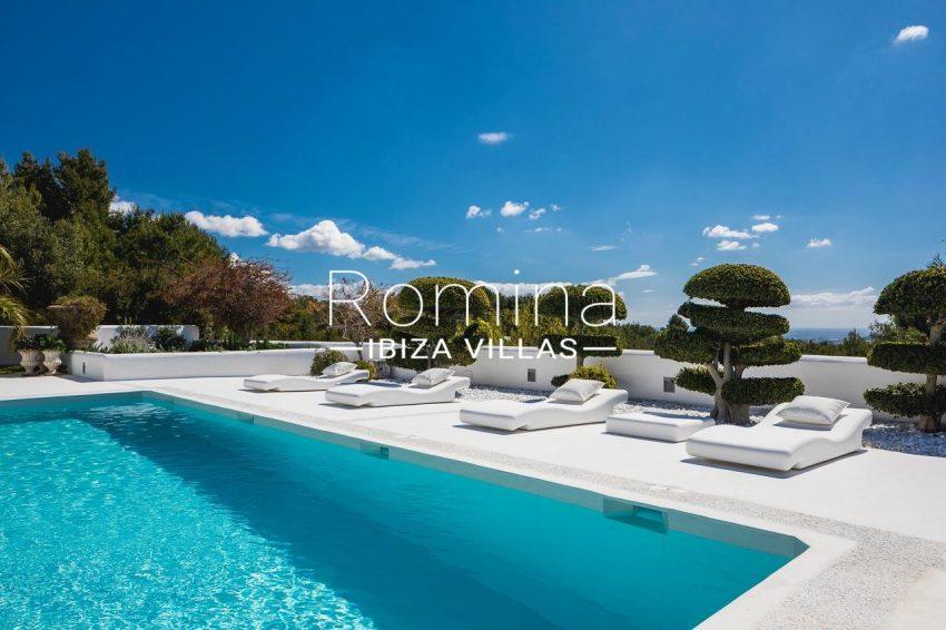 villa everland ibiza-1pool terrace sea view