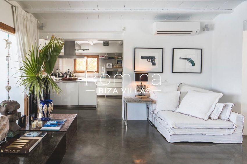 villa everland ibiza-3living room kitchen