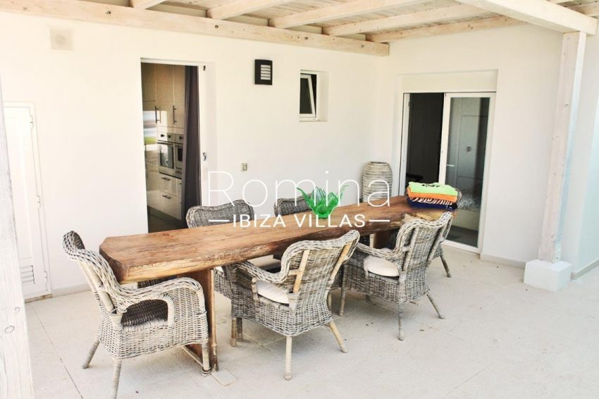 casa leon ibiza-2pergola terrace dining area2