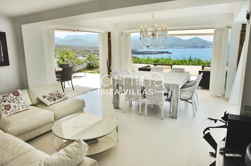 casa leon ibiza-3living dining room seaview