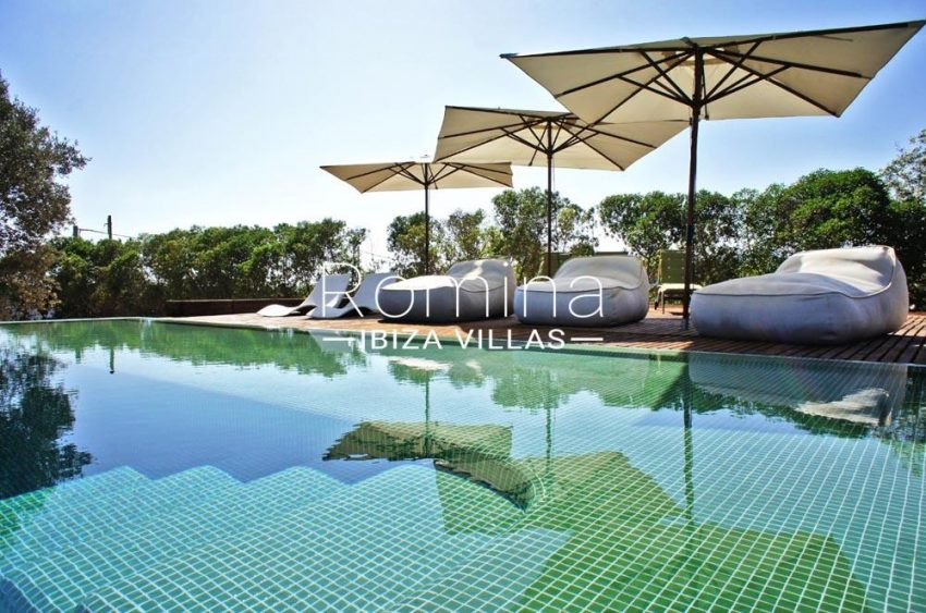 casa nema ibiza-2pool terraces lounge chairs