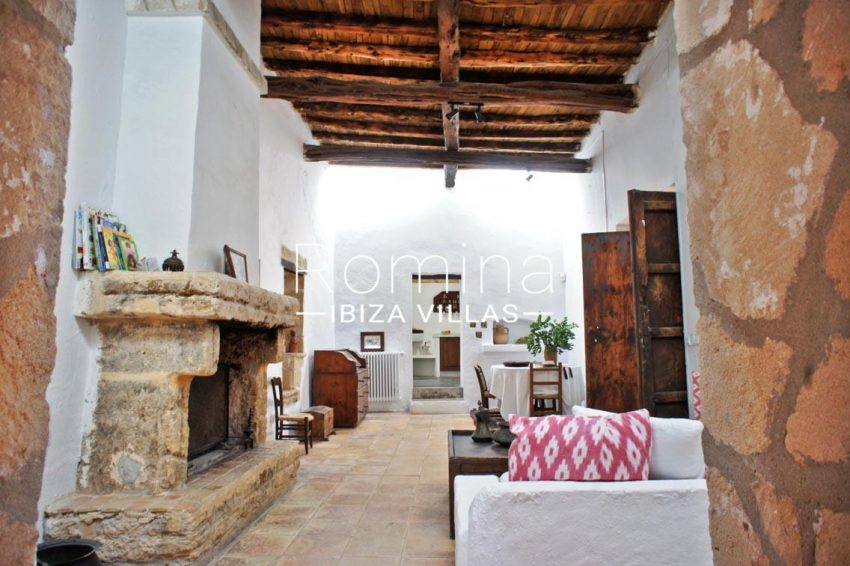 finca gibert ibiza-3living room fireplace2