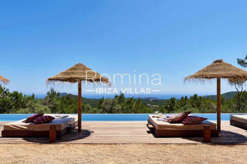 villa adelfa ibiza-1pool sea view