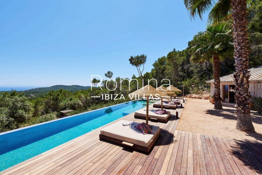 villa adelfa ibiza-1pool terrace sea view