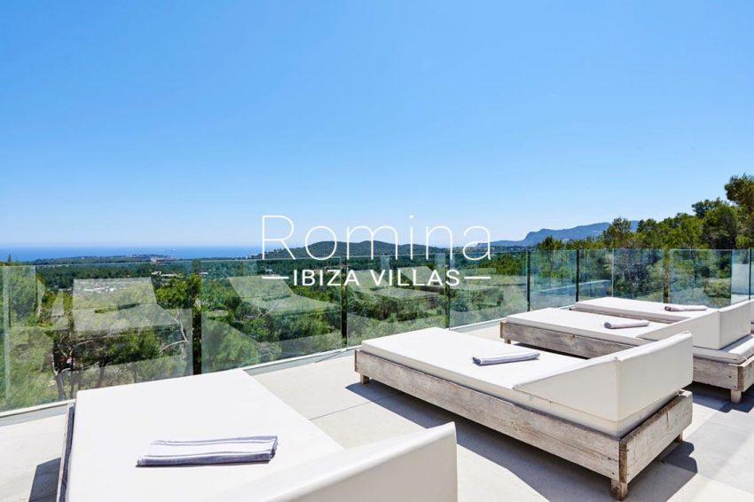 villa adelfa ibiza-1terrace sunbeds sea view