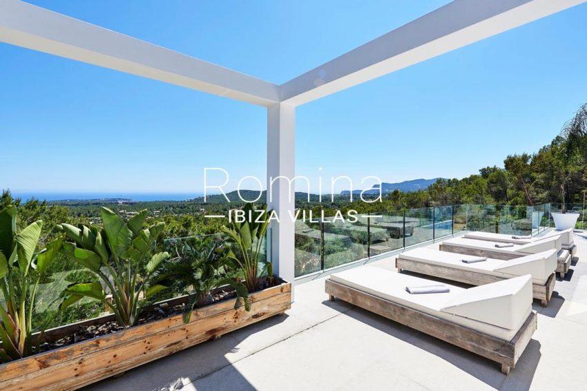 villa adelfa ibiza-1terrace sunbeds sea view2