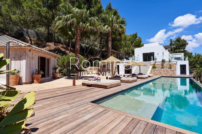 villa adelfa ibiza-2pool terrace