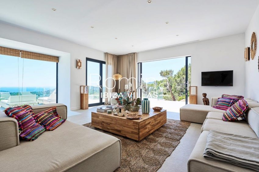 villa adelfa ibiza-3living room sea view