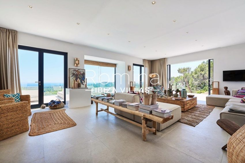 villa adelfa ibiza-3living room sea view2