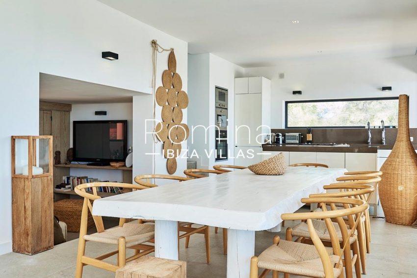 villa adelfa ibiza-3zdining room kitchen