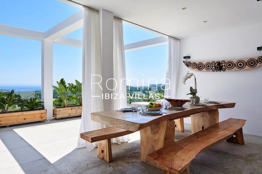 villa adelfa ibiza-3zdining room sea view