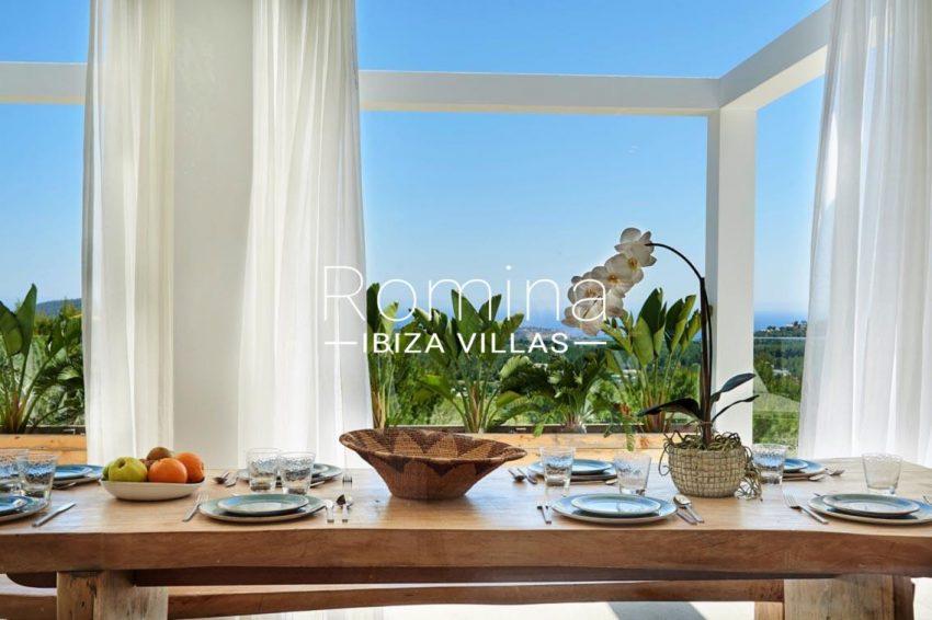 villa adelfa ibiza-3zdining table sea view