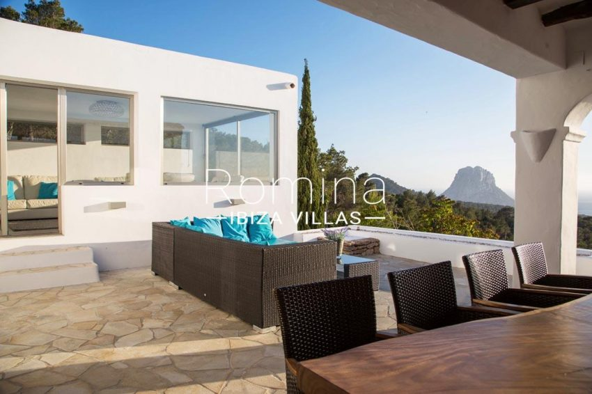 villa illes ibiza-1covered terrace dining area terrace sea view vedra