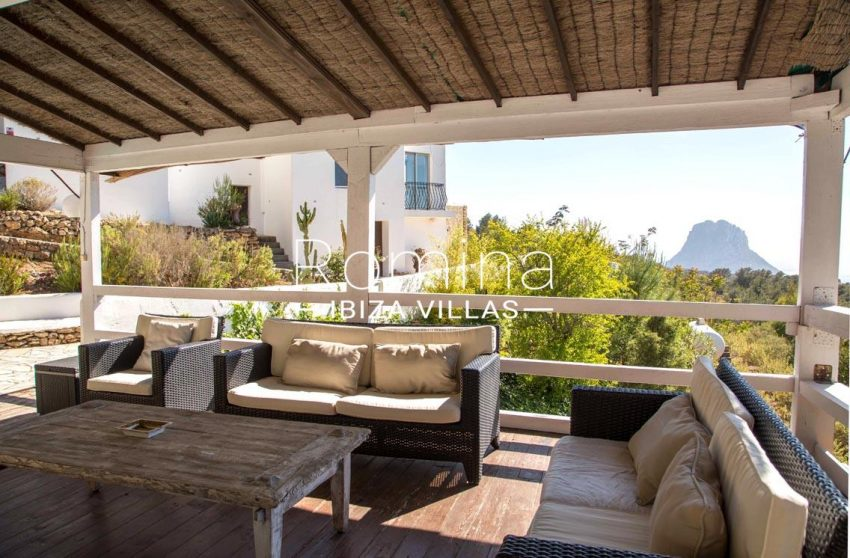 villa illes ibiza-1covered terrace sitting area sea view es vedra