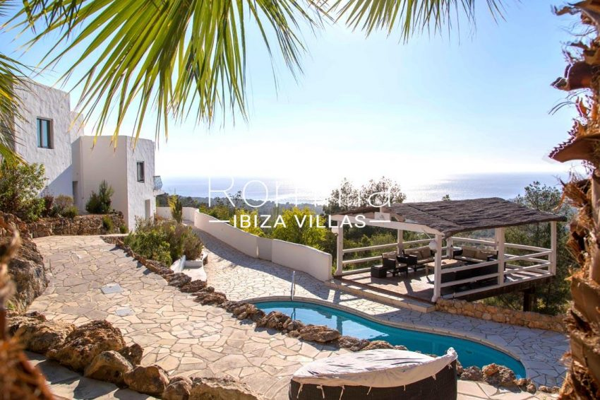 villa illes ibiza-1pool terraces chill out sea view