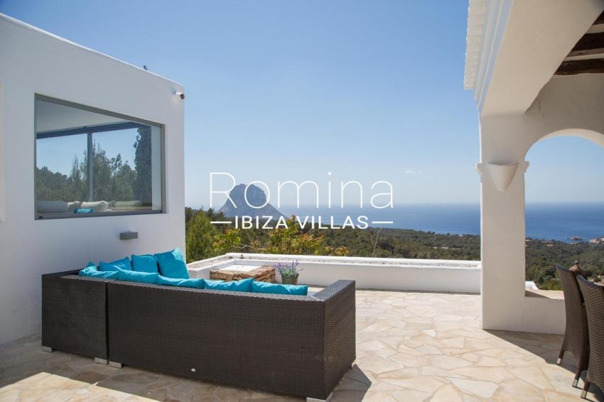 villa illes ibiza-1terrace sitting area sea view vedra2